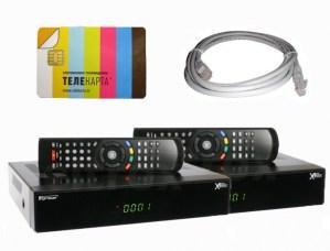 Комплект спутникового телевидения на два телевизора Телекарта SD +монтаж