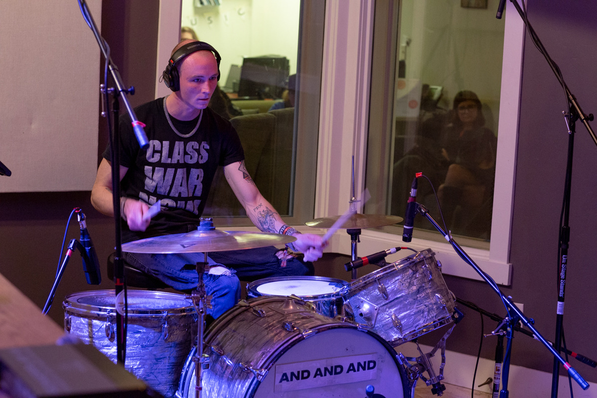 morerealism:Day 4 / KRBX Radio Boise In-studio performance live / And And And from PDX / hosted on Femme Fatale with Sadie Mayhem. AS
