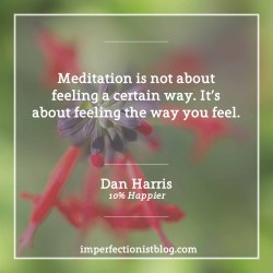 """#310 - Dan Harris on meditation:""""Meditation is not about feeling a certain way. It's about feeling the way you feel.""""http://bit.ly/2j25uM1"""
