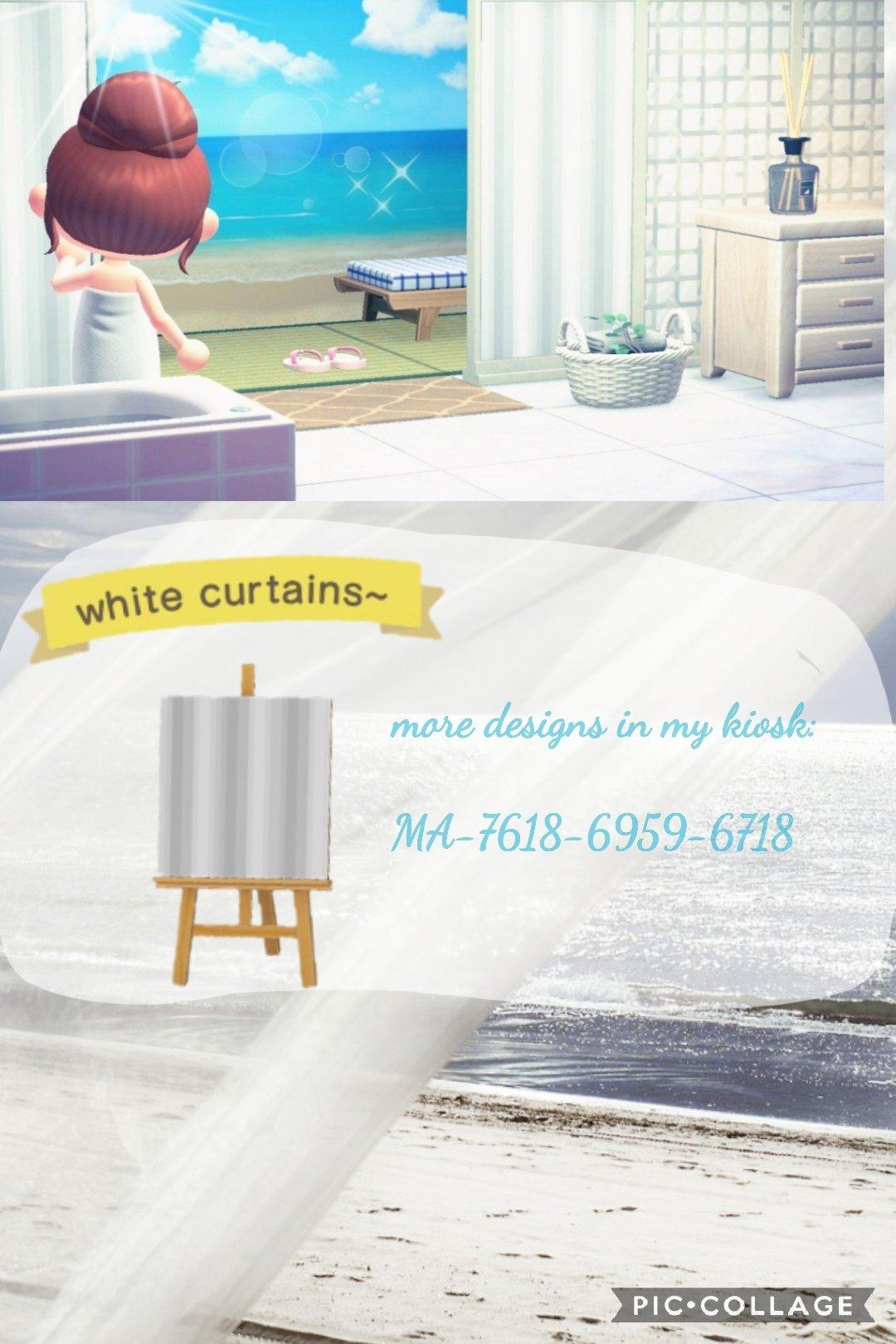 white curtains acnh custom designs