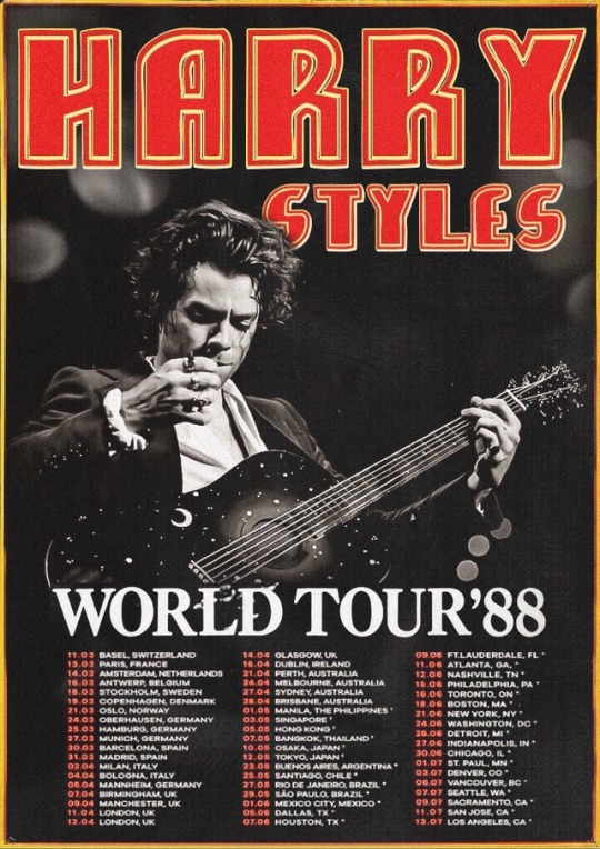 harry styles live on tour 1988