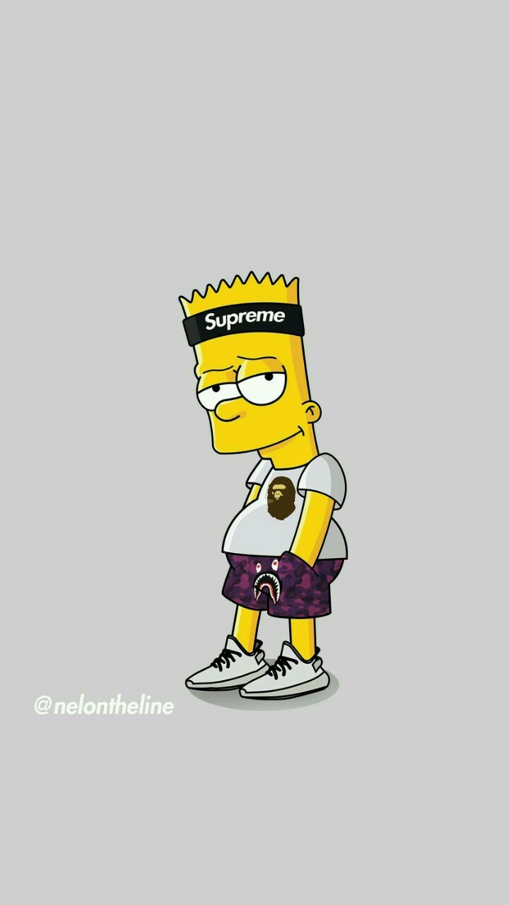 Create Meme Wallpaper Supreme Bart The Simpsons Bart Simpson