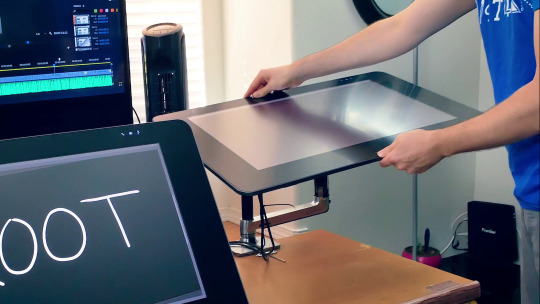 Cintiq 27 QHD Attached to Ergotron LX for Reference