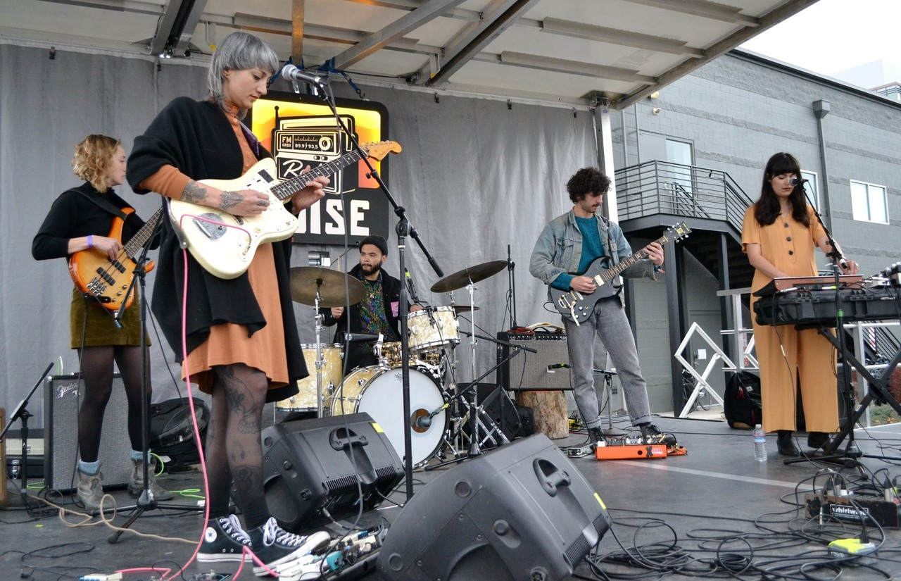 Y La Bamba pulled off the rarest feat: playing the #Treefort2019 Main Stage and our Radioland Stage - during the KEXP Showcase - in the same day! [Definitely a festival first.] -dig #RadioBoiseAlive #MediaSponsor