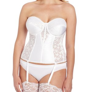 Women's Full figure Lace Corset Bra. Light boning slims and cinches waists, curves hips and... , Sat, 04 Sep 2 021 12:00:41 +0100