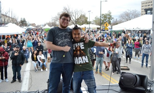 These folks are dedicated and loved the Dedicated Servers (both longtime station supporters) at Saturday's Local Hip-Hop Showcase at our Radioland Stage, presented by DJ Winkle and Andy O of Krush Korner. -dig #RadioBoiseAlive #MediaSponsor #Treefort2019