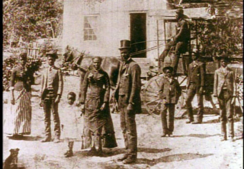 """californiastatelibrary: """" In 1850, Nancy (Ross) Gooch (center) was brought to California by her owner, leaving her only son behind in Missouri. After she was freed by laws prohibiting slavery in California, she was able to buy her son's (Andrew..."""