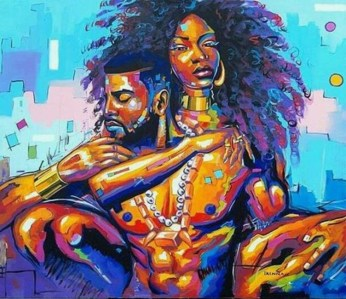 Knowledge Is Power — Black king & queen