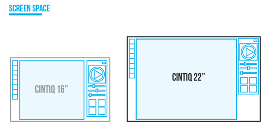 cintiq 16 vs 22 size difference