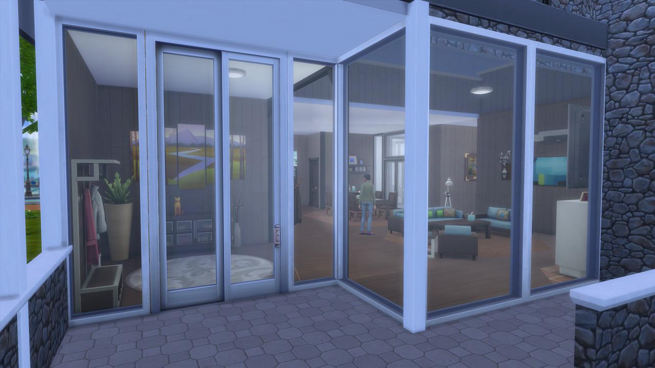 glass sliding door medium wall height