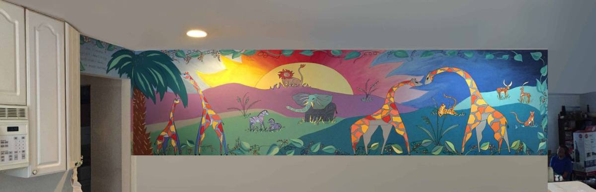 Original Wall Mural – Jungle Theme