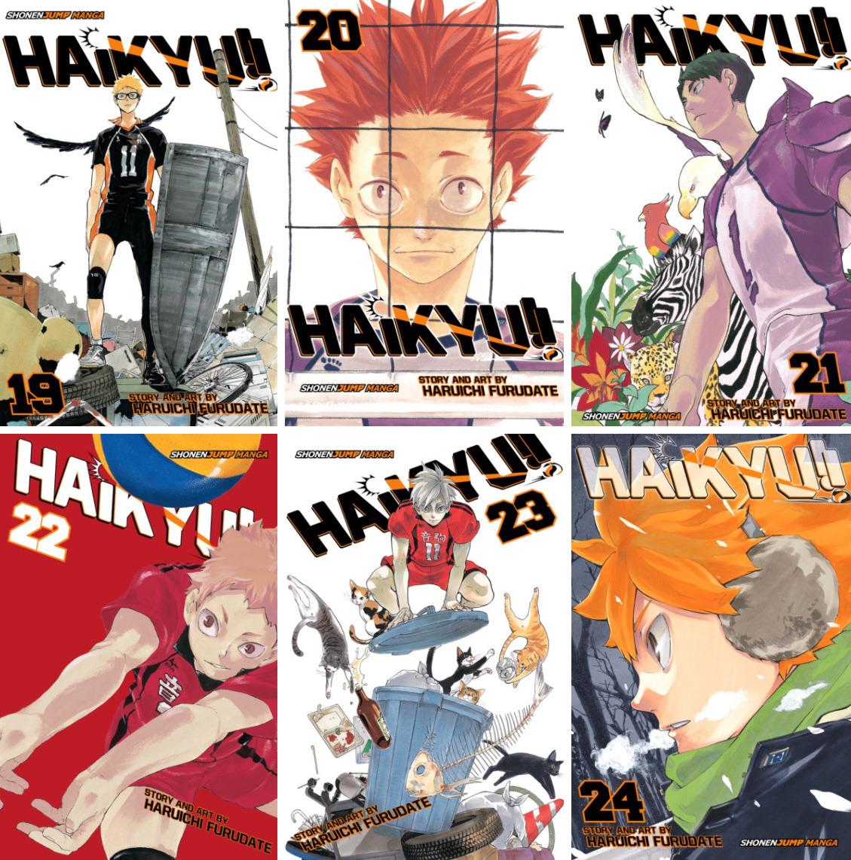 english haikyuu volume covers