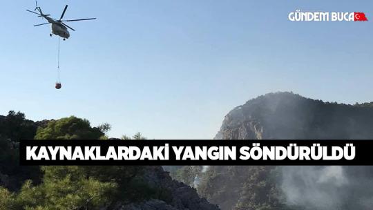 Kaynaklardaki Orman Yangını Söndürüldü.