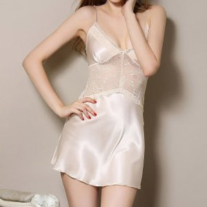 Women's Nightshirts Sexy Lingerie Lace Silk Strap Nightgowns. , Wed, 28 Apr 2021 09:36:45 +0100