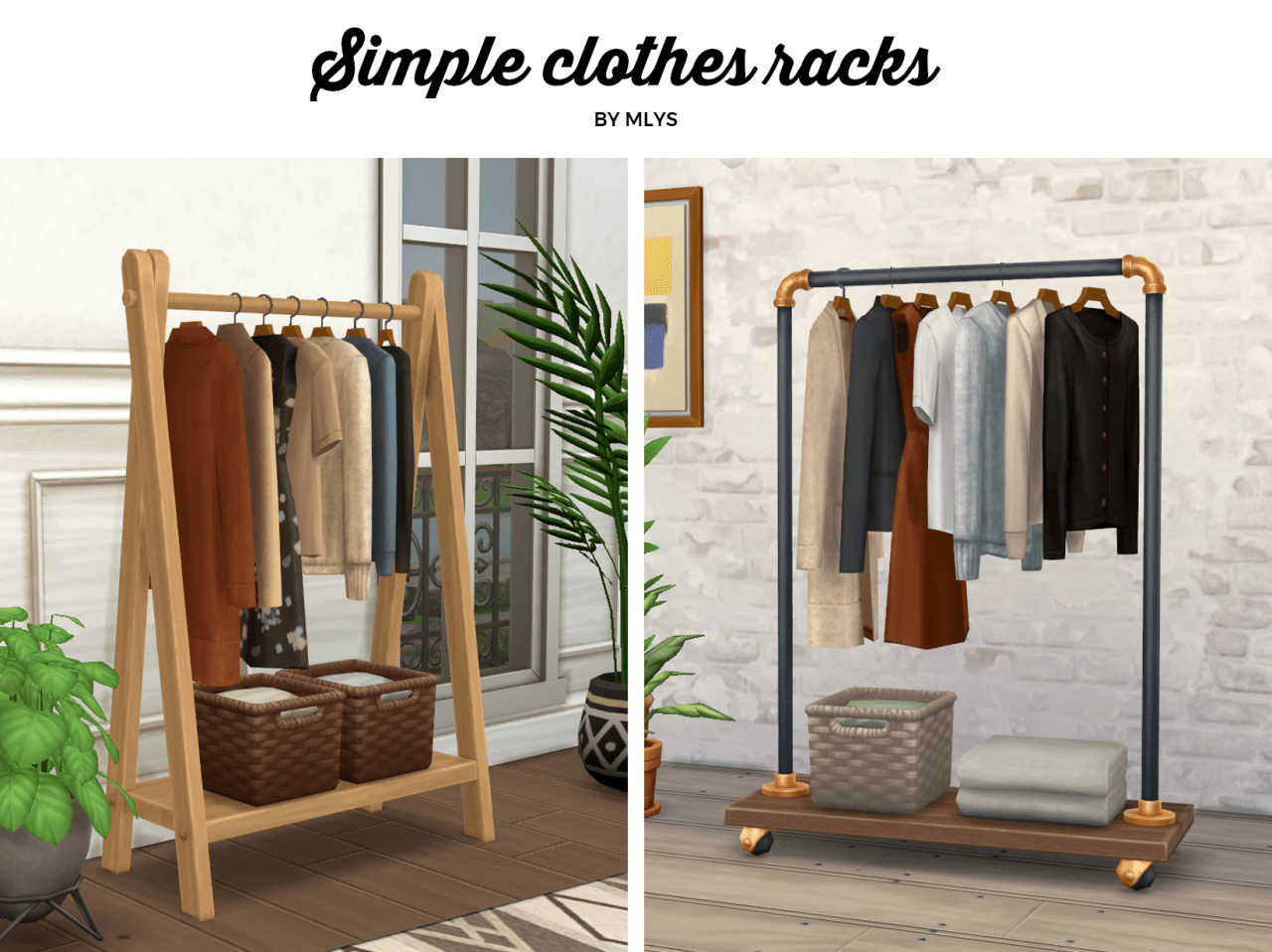 simple clothes racks