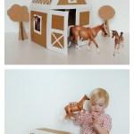 Unicornhatparty Kids Diys By Truebluemeandyou Diy Cardboard And Duct Tape Horse Barn Tutorial