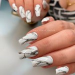 Stylish Belles Cute French Ombre Gel Polish Nails Coffin Shaped