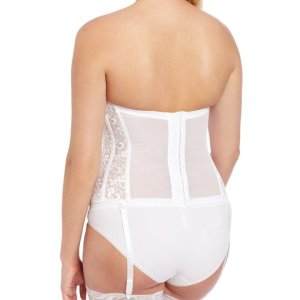 Women's Full figure Lace Corset Bra. Light boning slims and cinches waists, curves hips and... , Sat, 04 Sep 2 021 18:02:21 +0100