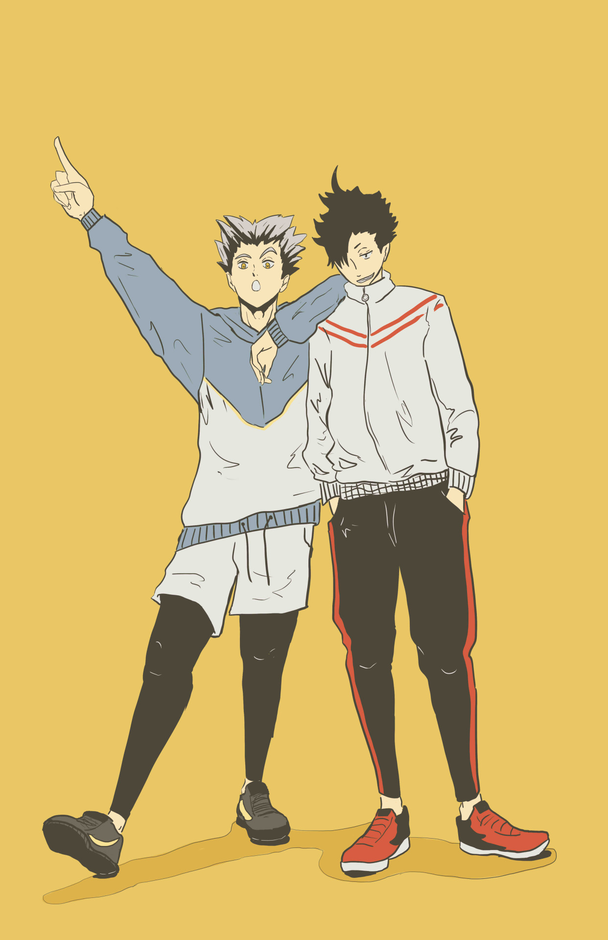 tova artworks kuroo and bokuto pre