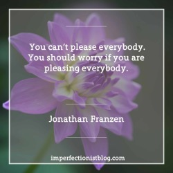 """#345 - """"You can't please everybody. You should worry if you are pleasing everybody."""" -Jonathan Franzen"""