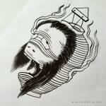 Jan Willem Quick Chochin Obake Paper Lantern Ghost Ink