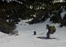 Dalton skiing the Updated Boss 318 in the Whites