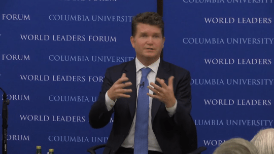 The Honorable Matthew W. Barzun at the World Leaders Forum at Columbia University 2015