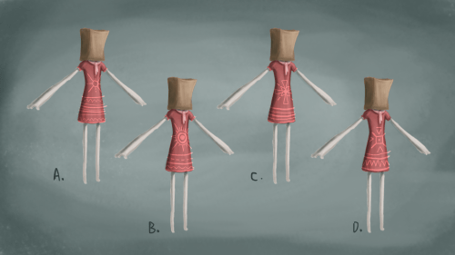 a few different dress pattern variations for the main character. by JEMIMA