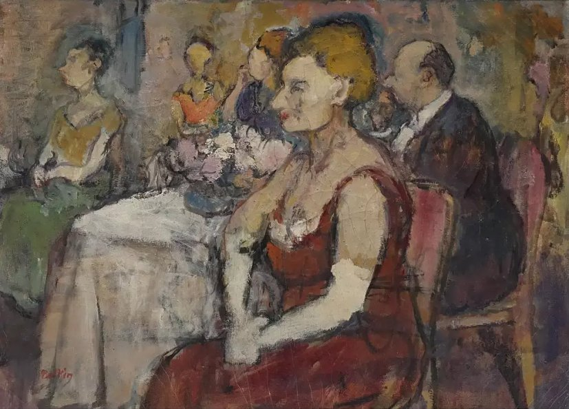 """lilithsplace: """" The Guests - Henry Botkin (1896–1983) """""""