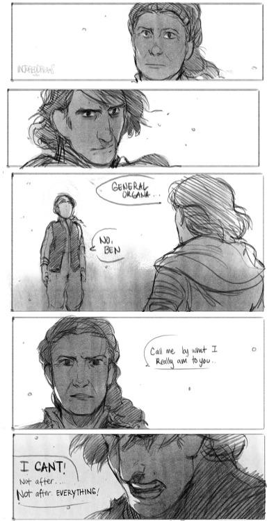 Leia/Ben confrontation: a mother's love