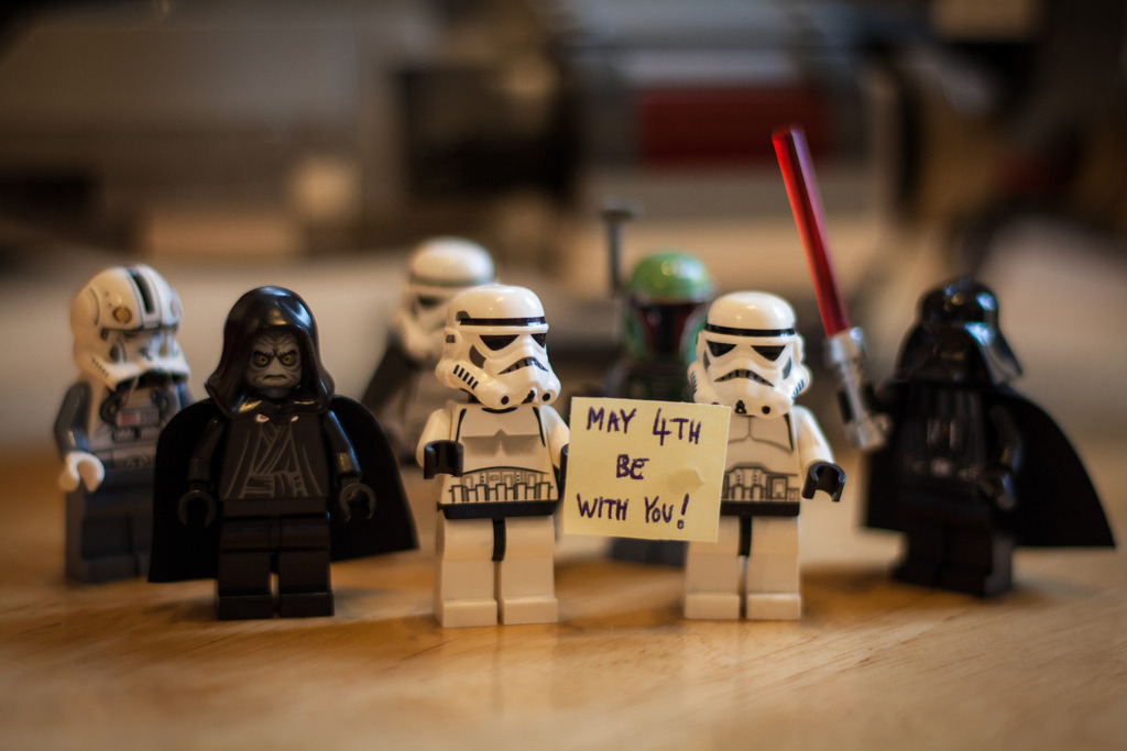 Happy Star Wars Day!May The 4th Be With You  Image by simononly (via:itlego)