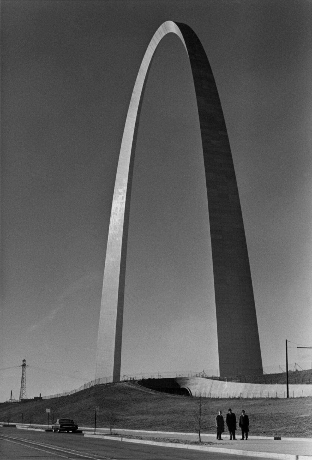 Eero Saarinen's Gateway Arch, designed in 1947, completed 1963-1965.
