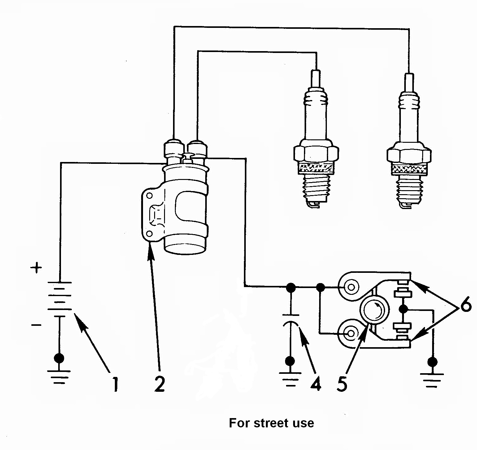 Motorcycle Wiring Diagram Dual Coil