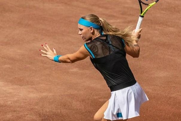 aa4f8876c Caroline Wozniacki s outfit for Roland Garros …