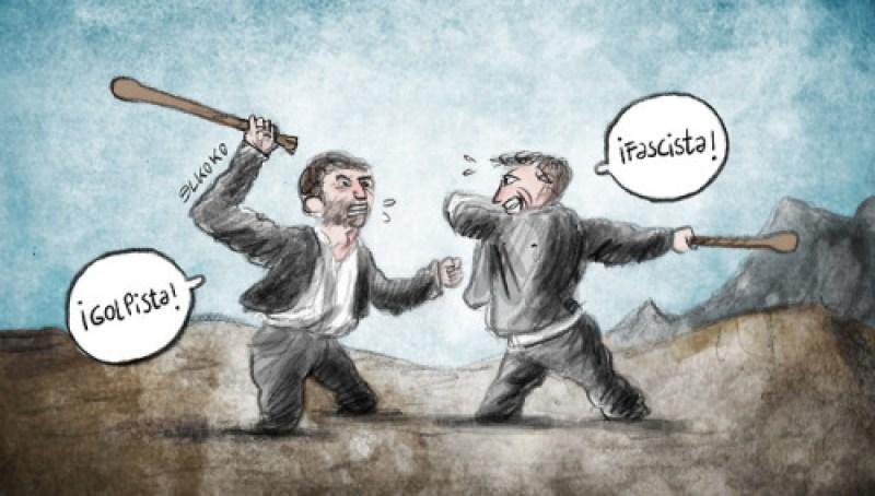 Duelo a garrotazos 2018 Viñeta en @elestafador #Goya http://elestafador.com/2018/11/duelo-a-garrotazos-2018/