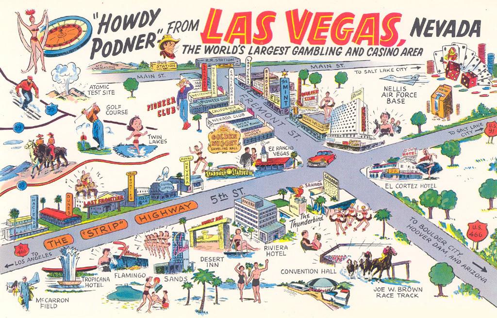 Las Vegas, Nevada U.S.A. postcard - 1958