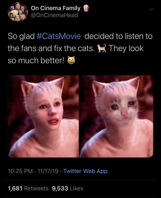 Cats 2019 Film Wow Great Movie Cats Meme On Me Me