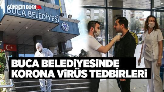 Buca Belediyesi'nde Korona Virüs önlemi
