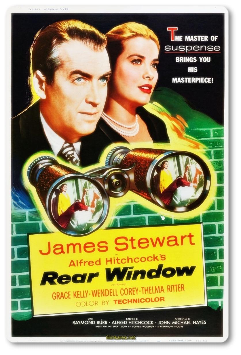 Rear Window,1954,Arka Pencere,ABD,Окно во двор,Alfred Hitchcock,James Stewart,Grace Kelly,Wendell Corey,Thelma Ritter,Raymond Burr,Judith Evelyn,112 Dak.,Nostalji Film,Klasik Film,Hollywood,Nostalji Sineması,Imdb Top List,