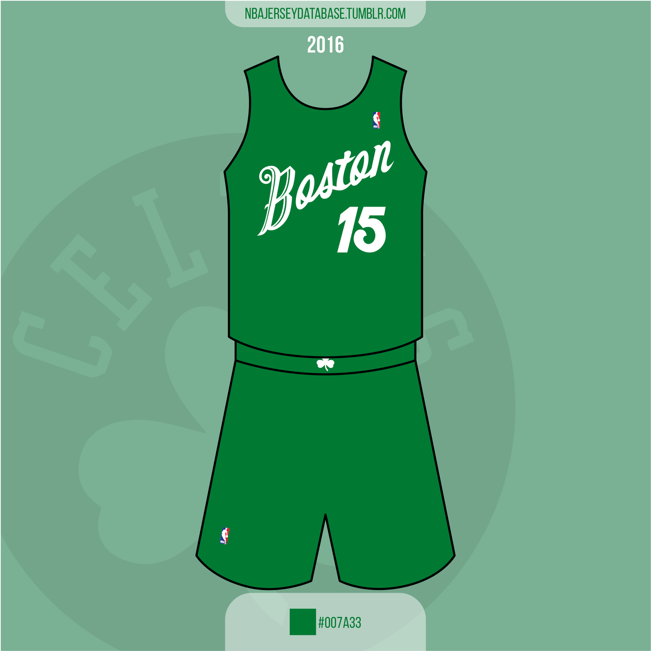 Boston Celtics Christmas Card Jersey 2016