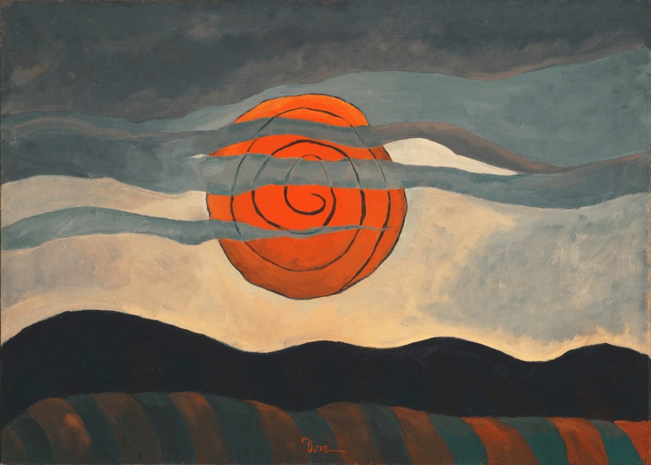 """thusreluctant: """" Red Sun by Arthur Dove """""""