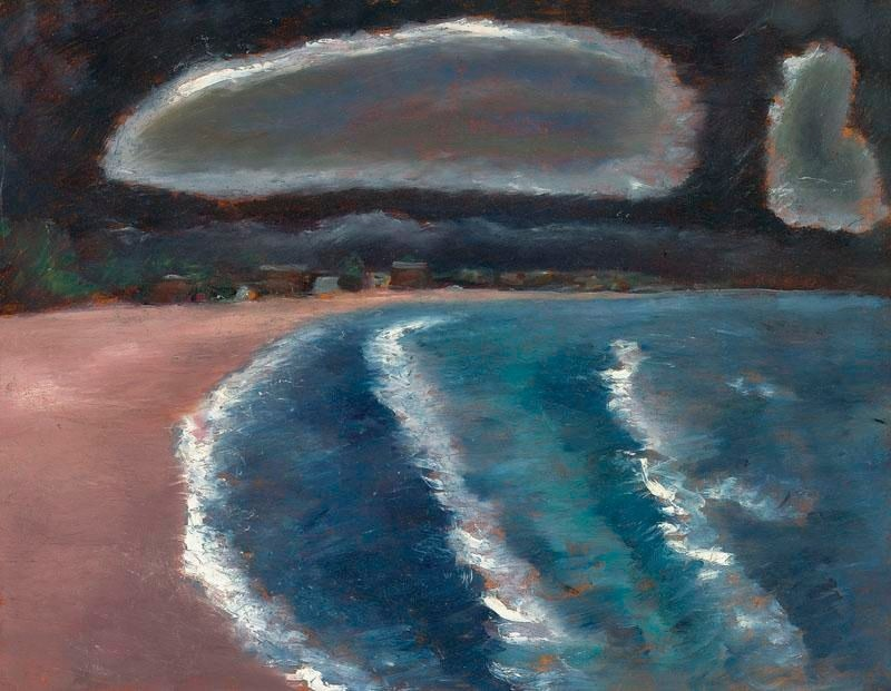 """thunderstruck9: """" Marsden Hartley (American, 1877–1943), Storm down Pine Point Way, Old Orchard Beach, 1941-43. Oil on masonite, 22 x 28 in. """""""