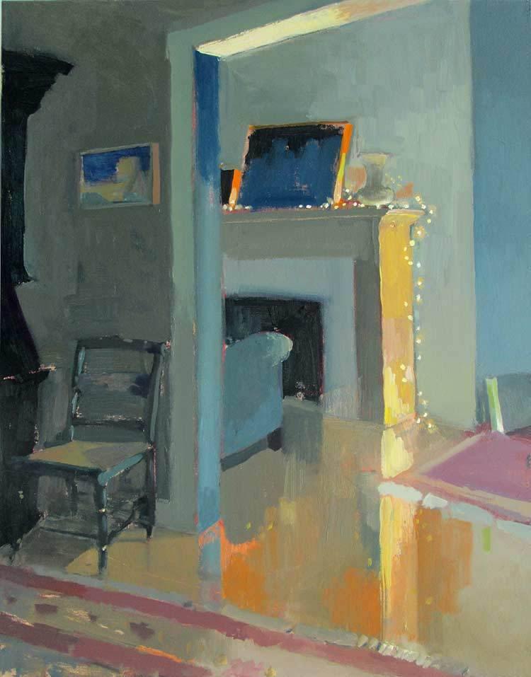 "huariqueje:"" White Lights - Carole RabeAmerican, b. 1950sOil on canvas, 28 x 22"""""