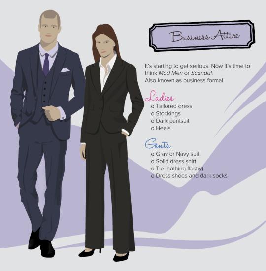 decoding dress code business attire
