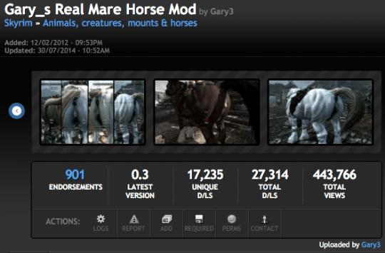 Skyrim Horses Mod