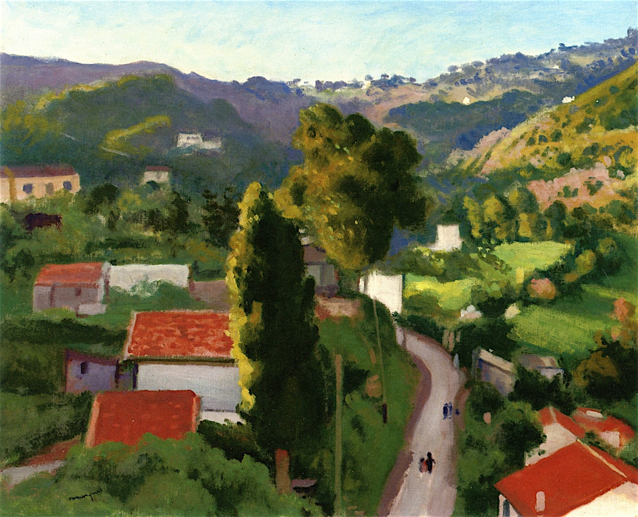 "lawrenceleemagnuson: "" Albert Marquet (France 1875-1947) Route de Beau Fraisier à Montplaisant oil on canvas 50.2 x 61.6 cm """
