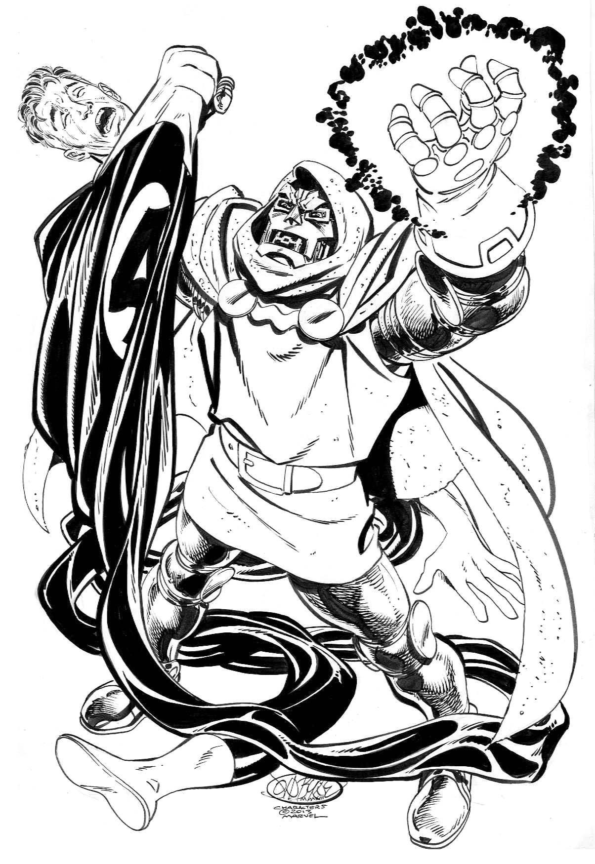 Dr Doom Vs Mr Fantastic Commission By John
