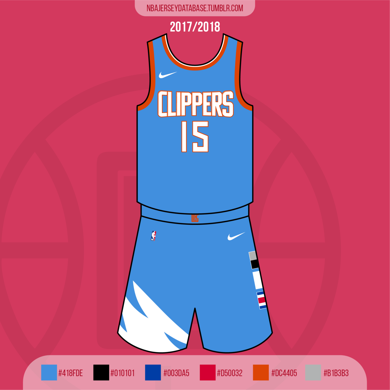 Los Angeles Clippers City Jersey 2017-2018