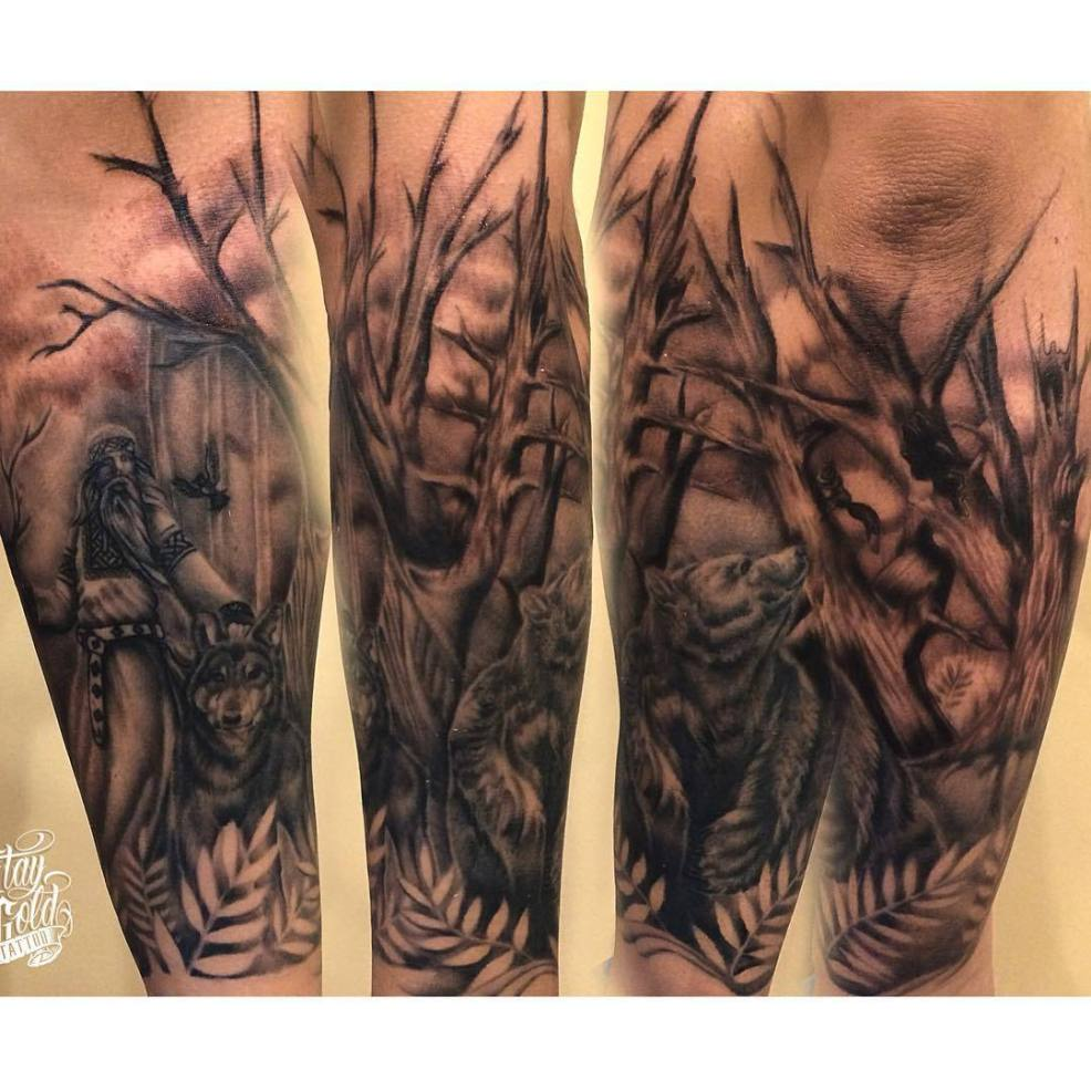 Grigogriy Swarogov Mage Wolf Bear Bird Forest Squirrel