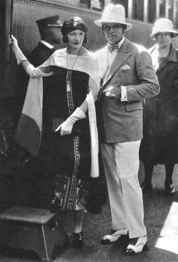 Last photos of Rudolph Valentino and his wife Natacha